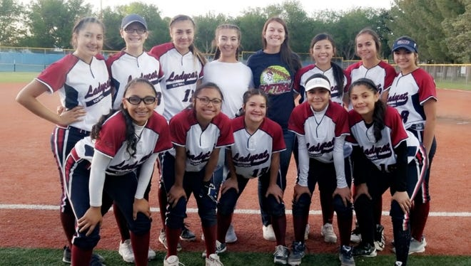 The Deming High junior varsity Lady Cats softball team compiled an 11-1 District 3-5A won-loss record and were crowned champions during this past 2018 season. Pictured in the from row, from left, Jasmine Lopez, Mariah Pacheco, Bianca Valverde, Isis Olivas and Karely Camunez. Standing from left are:Briana Flores, Lily McMillan, Yesenia Flores, Kaydance Chavez, Kaitlyn Morgan, Nayeli Trujillom Jocelyn Aguayo and Alexis Trejo.