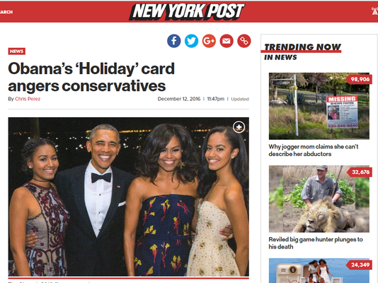 fact check do the obamas say merry christmas on their holiday cards