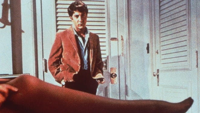"""Dustin Hoffman  in a famous scene from the 1967 film """"The Graduate."""""""