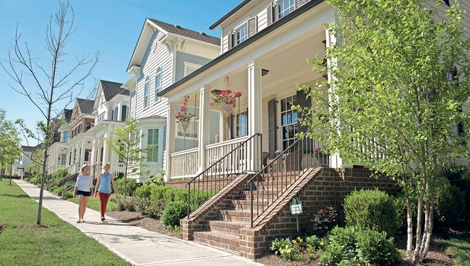 Homes at Berry Farms feature inviting front porches that help connect neighbors and build a strong sense of community.