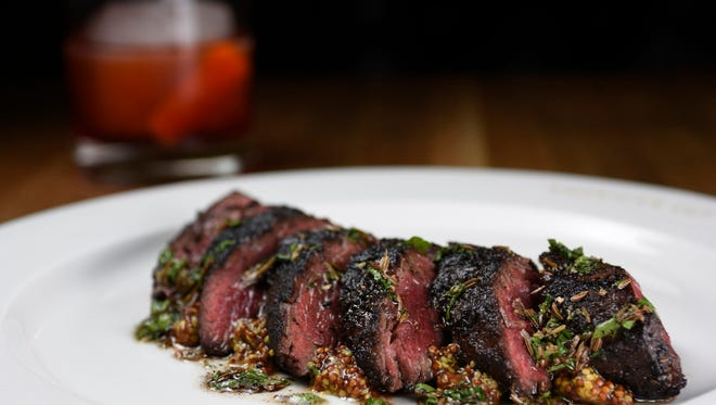 American Cut. pastrami hanger steak.
