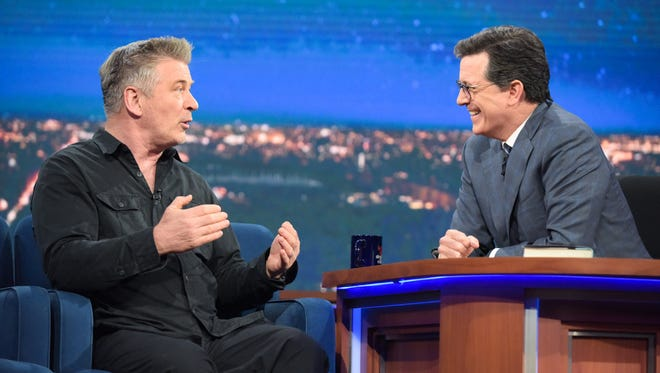 Alec Baldwin stopped by 'The Late Show' Tuesday, April 18.