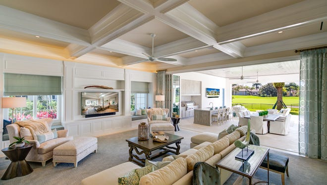 London Bay Homes' Avignon furnished estate model at Quail West is priced at $4.975 millionand offers 5,895 square feet under air.