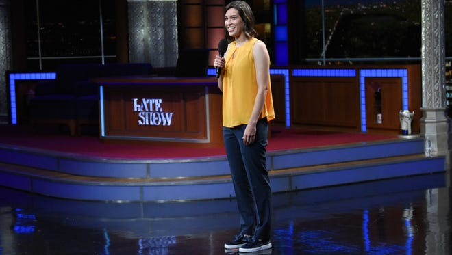 """Montpelier native and stand-up comic Carmen Lagala made her network debut last week on """"The Late Show with Stephen Colbert."""""""