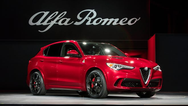 The 2018 Alfa Romeo Stelvio was revealed at the 2016 L.A. Auto Show in November 2016.