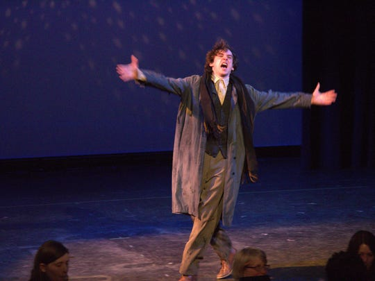 """A photo of Jack DesBois performing in """"Ragtime"""" at"""