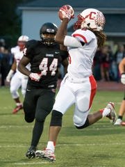 Canton's Jared Stephens hauled in a first-quarter pass