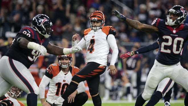Kicker Randy Bullock is a free agent, but he performed well enough for the Cincinnati Bengals to consider bringing him back to the team in 2017.