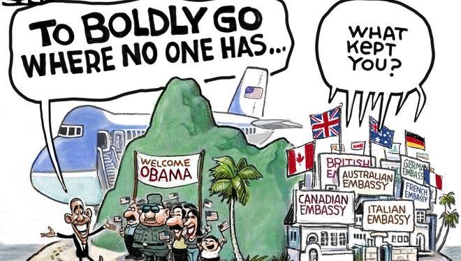 Steve Sack, Minneapolis Star Tribune, drew this editorial cartoon.