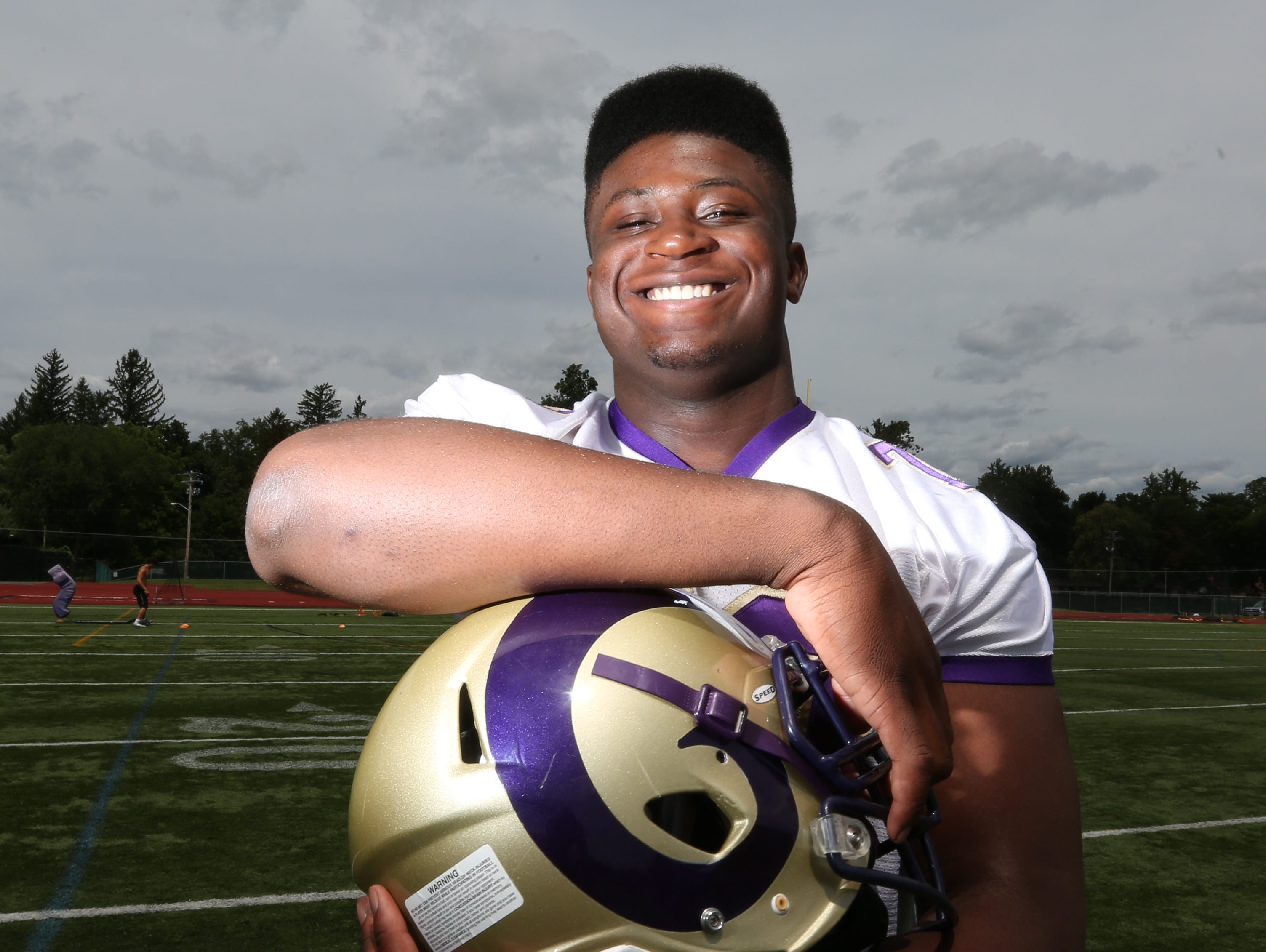 Clarkstown North senior Prince Emili, The Journal News' Rockland football player of the year.