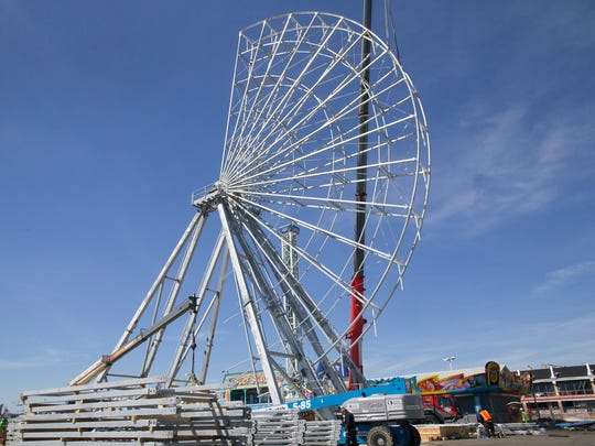 A new 131 foot Ferris Wheel is being built on the newly extended Casino Pier and will open later this summer. A new roller coaster name Hydrus has also been built and will open within the next month.