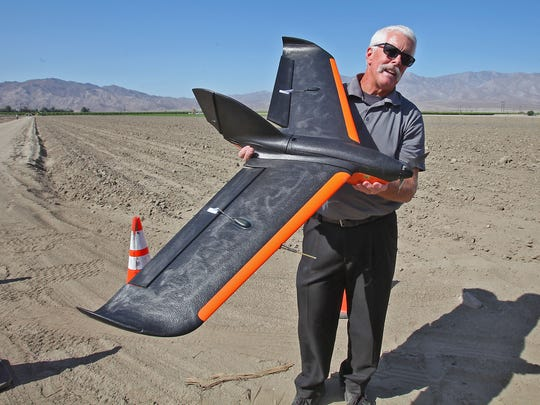 Retired Sheriff's Cpt. Frank Taylor talks about the Sentera Phoenix M2 Unmanned Aerial Systems that may be used for search and rescue operations, June 1, 2016.