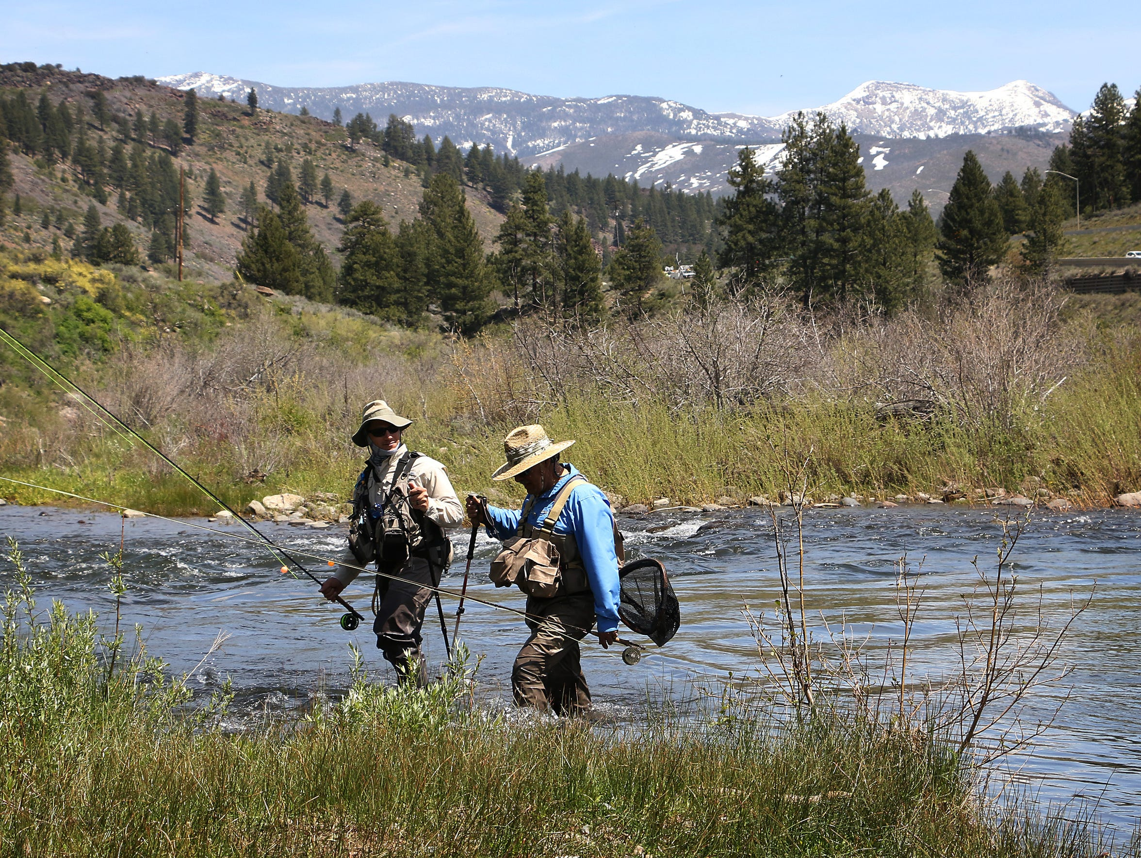 Anglers near the confluence of the Little Truckee and