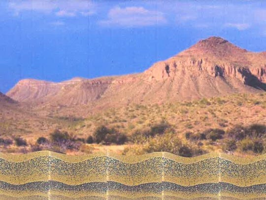 "This undated rendering provided by iCON Wall Solution shows a proposed border wall between Mexico and the U.S. The San Diego County-based Concrete Contractors Interstate's proposal is for a polished concrete wall that can be augmented with stones and artifacts specific to local areas it cuts through. ""The idea is to make the wall a piece of art,"" CEO Russ Baumgartner told The Associated Press. Baumgartner said he wants to decorate both sides of the structure, unlike the government proposals, which only call for the American side to be ""aesthetically pleasing."" (iCON Wall Solution by Single Eagle dba Concrete Contractors Interstate via AP)"