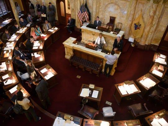 The New Jersey Senate chamber on July 1, 2018.