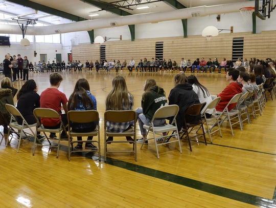In the twice-a-year Real Talk program, Lake Orion students