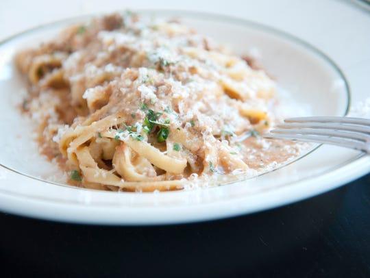 Tagliatelle Bolognese will satisfy your pasta cravings at Trattoria Carina in Philadelphia.