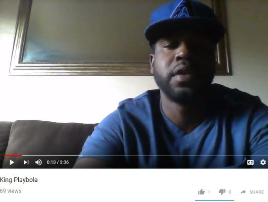 Cleophus Cooksey Jr. raps under the YouTube name King