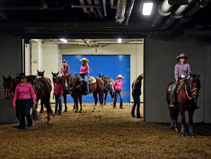 Contestants in the Pennsylvania High School Rodeo Association