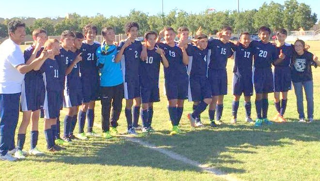 Ruidoso boys soccer team takes the district championship Oct. 24.