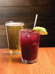 Sangria and beer from Blue Moon Mexican Cafe in Englewood