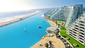 Crystal Lagoons at San Alfonso del Mar, a private resort in Chile.