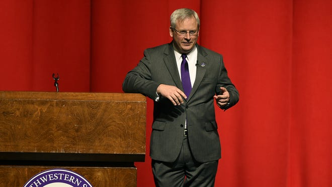 Northwestern State President Jim Henderson will be interviewed Thursday for president of the University of Louisiana System.