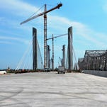 The new downtown bridge should be open for two-way traffic by the first of the year.