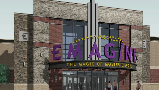 An architectural rendering shows what an Emagine Entertainment movie theater coming to Hartland Township will look like.