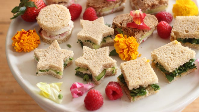 Mother's Day Tea Sandwiches.