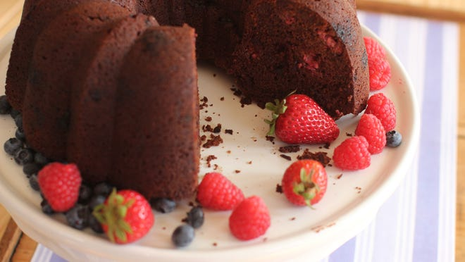 Chocolate-Raspberry Beet Cake.