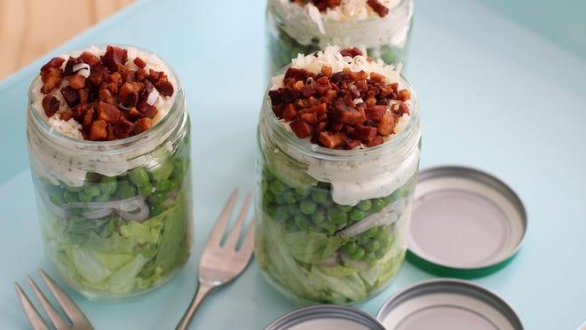 A Mason jar salad puts a new twist on salad.