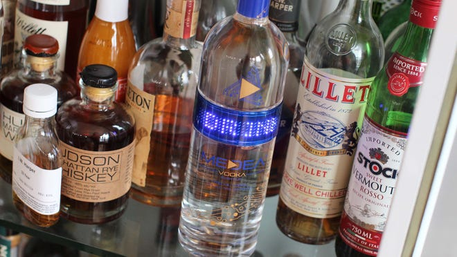 Medea Vodka recently introduced a liquor bottle equipped with an LED band that can be programmed to scroll any message from a smartphone app.