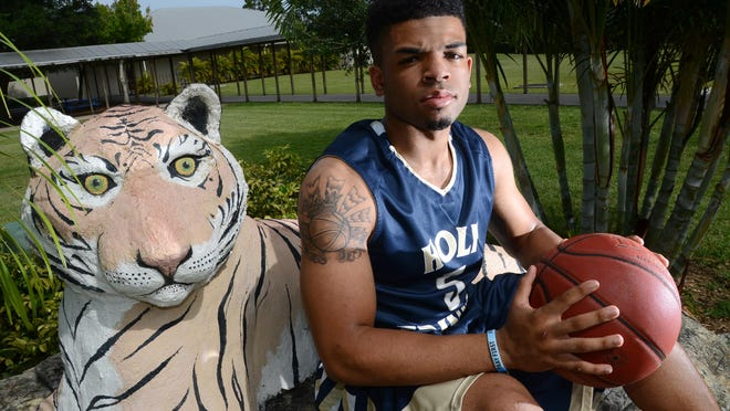 Keoni Wallington of Holy Trinity is the 2015 Boys All Space Coast Basketball player of the year.
