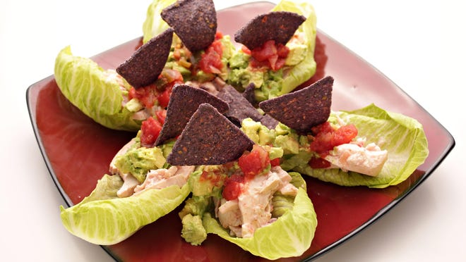 The creamy southwestern chicken and avocado lettuce cups from Chef Amy Barnes of Sweet Basil as seen in Scottsdale on June 1, 2015