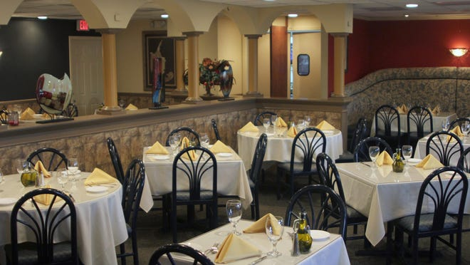 Arturo's interior has a subtle new look, and some added decor. This is the main dining room.