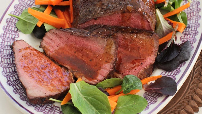 Applying a few simple techniques create a tasty and healthy dinner in this recipe for Lean Roast Beef with Marsala Gravy.