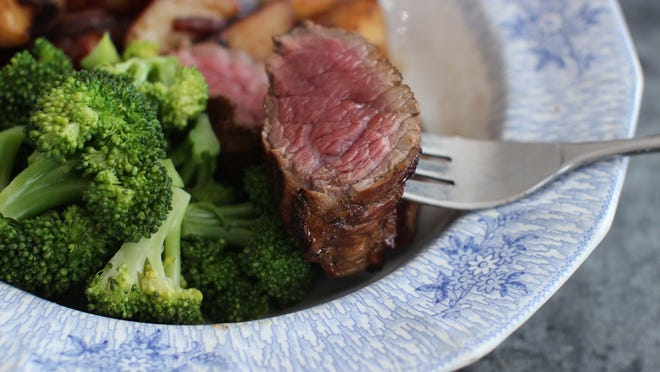 Petite beef sirloin is a great cut of meat, is usually is less expensive than the larger filet mignon cuts and it cooks up quite quickly.