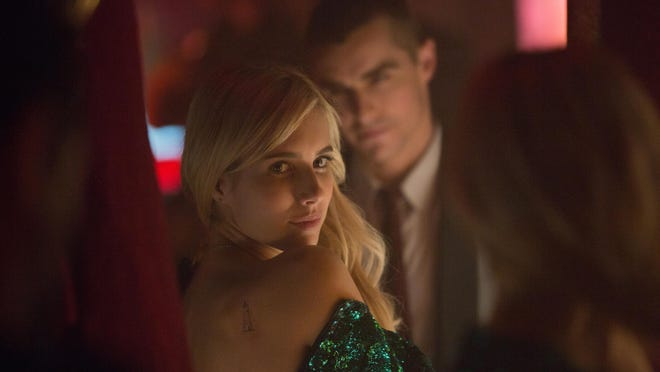 "Vee (Emma Roberts) and Ian (Dave Franco) in ""Nerve."""