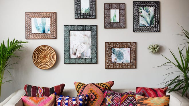 """These are some of New Orleans studio owner Alyse Rodriguez's handmade wooden frames. """"The way that I approach wood is like the way an artist approaches a blank canvas,"""" Rodriguez said."""