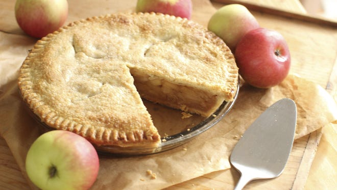 Making an apple pie, like this deep-dish version, takes some care if you want it to turn out well.