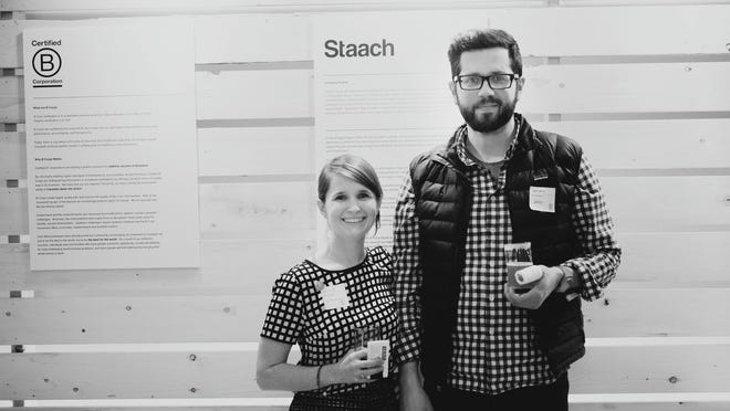 Staach's Seth Eshelman, founder, and Anne Sherman, director of sustainability, create smart and simple furniture that is environmentally friendly.