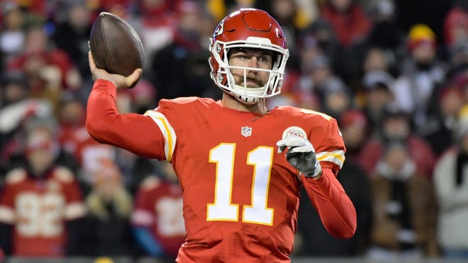 Quarterback Alex Smith and the Kansas City Chiefs are among three teams that can clinch a playoff spot this week.