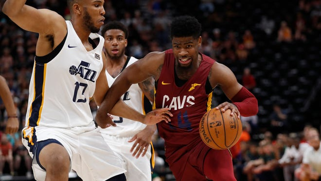 Tony Bradley (left) is one of a handful of Jazz and G-League veterans hoping to earn more minutes in the NBA through Summer League development.