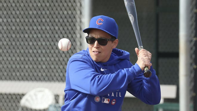 Major League Baseball is looking for ways to bring more women, like Cubs minor league hitting coach Rachel Folden, and minorities into its sports.