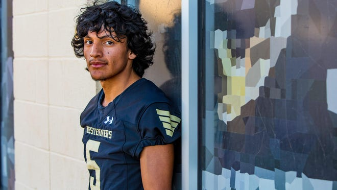 Lubbock High senior receiver Darin Mendez is motivated to finish high school and uses football as an outlet to cope with the loss of his mother, Crystal Garcia. Garcia, 34, died after suffering from a brain aneurysm when Mendez was in the seventh grade in 2016.
