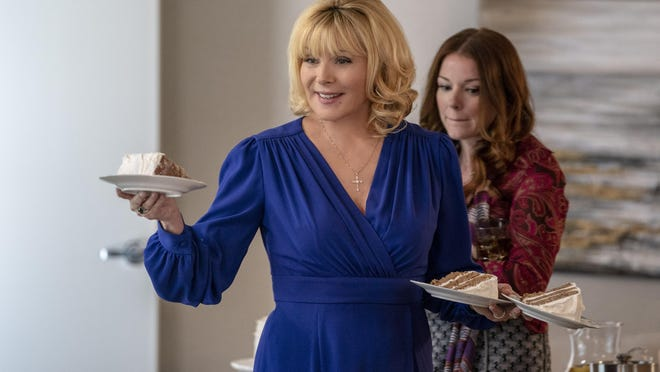 "Kim Cattrall, left, and Aubrey Dollar in a scene from ""Filthy Rich"" premiering on Fox in the fall."