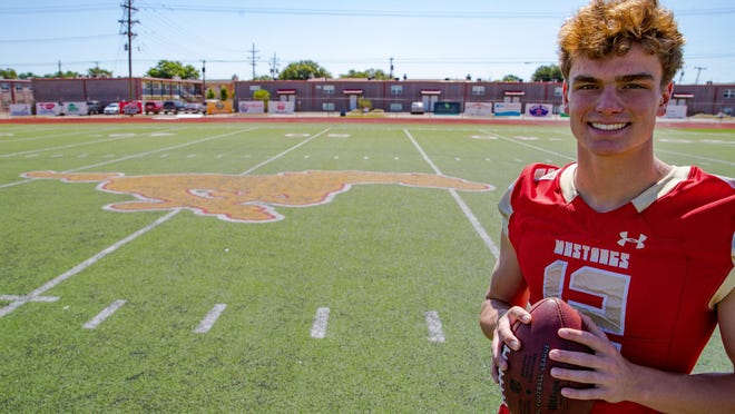 Coronado quarterback Sawyer Robertson has is primed for a strong season not just in football, but in baseball as well as a standout two-sport athlete for the Mustangs.