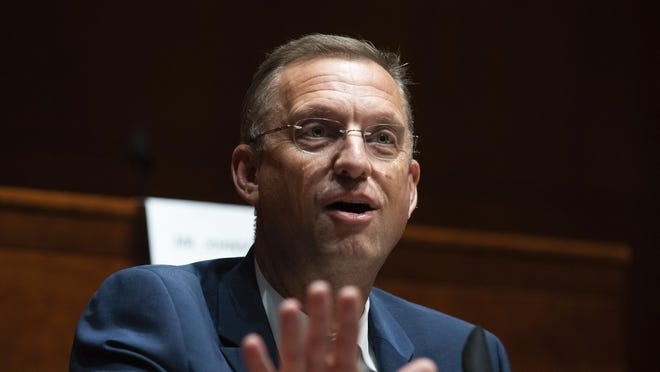 FILE - Rep. Doug Collins, R-Ga., speaks during a House Judiciary Committee hearing on proposed changes to police practices and accountability on Capitol Hill, Wednesday, June 10, 2020, in Washington.