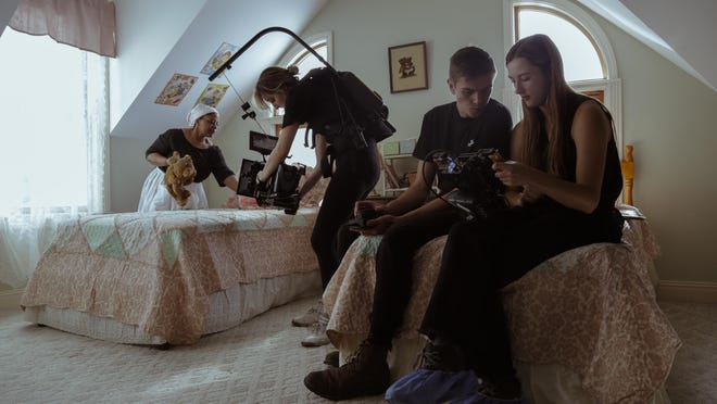 SCAD students work on the production for Hailey French's short film, 'The Light Breaks.' French's film is one of the student-produced films selected for the 2020 SCAD Savannah Film Festival.